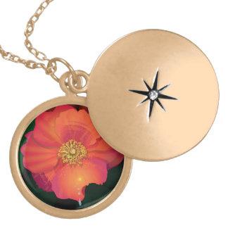 flower girl in gold locket necklace