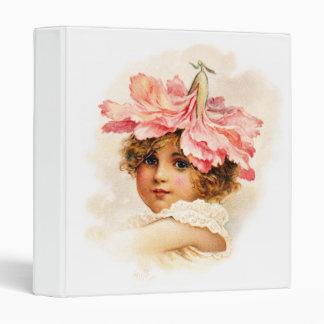 Flower Girl in Pink 3 Ring Binder
