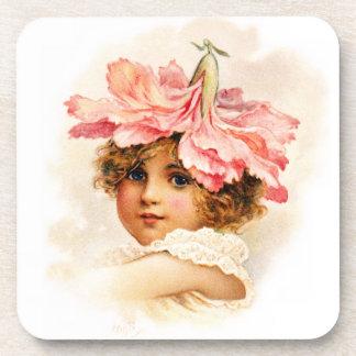 Flower Girl in Pink Coaster