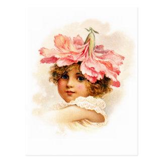 Flower Girl in Pink Postcards