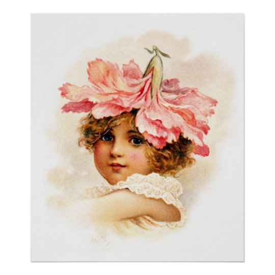 Flower Girl in Pink Poster