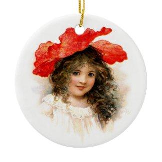 Flower Girl in Red