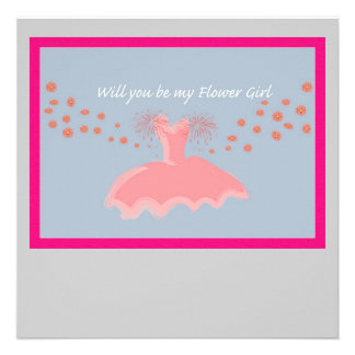 Flower Girl Personalized Announcement