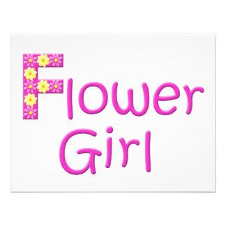 flower girl personalized invite