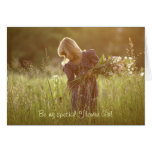 Flower girl Invitation - Blonde Girl in Meadow Cards