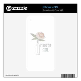 Flower Girl iPhone 4S Decal