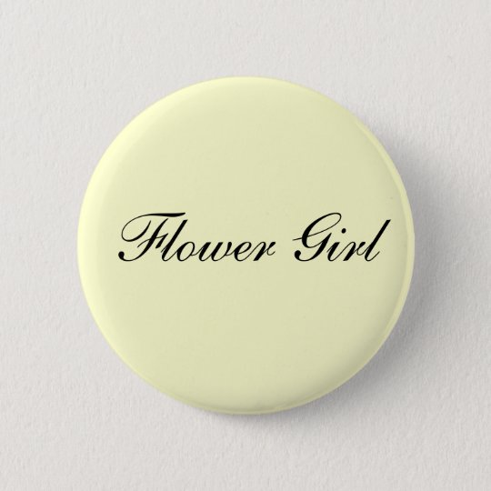 Flower Girl Ivory Button