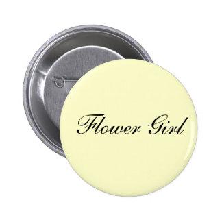 Flower Girl Ivory Button