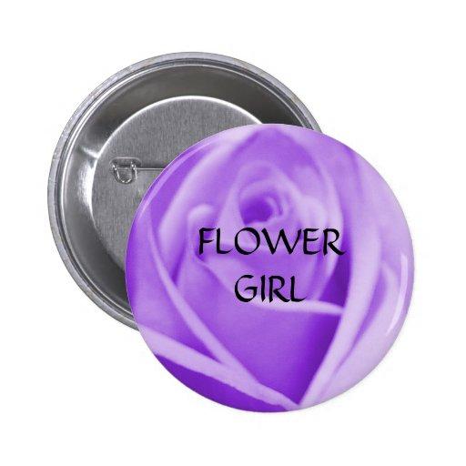 FLOWER GIRL - lavender rose button