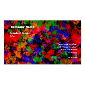 Flower Girl Lost In The Woods - Colourful Abstract Business Card