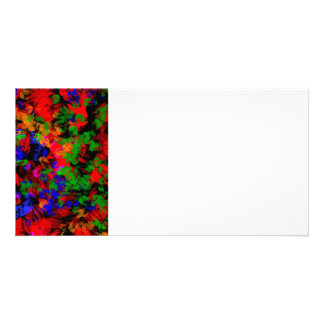 Flower Girl Lost In The Woods - Colourful Abstract Card