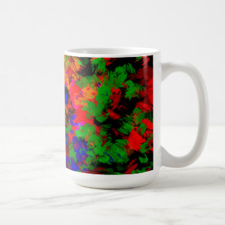 Flower Girl Lost In The Woods - Colourful Abstract Mugs