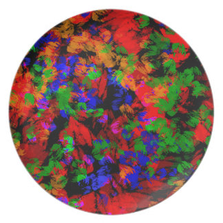 Flower Girl Lost In The Woods - Colourful Abstract Dinner Plates