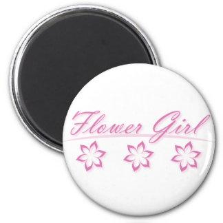 Flower Girl Refrigerator Magnet
