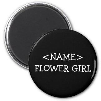 Flower Girl 2 Inch Round Magnet