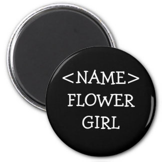 Flower Girl Name Button 2 Inch Round Magnet
