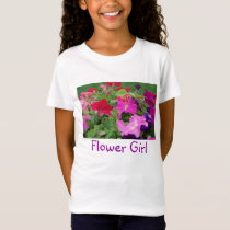 Flower Girl Peonies T-Shirt