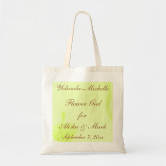 """Flower Girl"" - Personalized w/ Flower Basket & Ri Tote Bag"