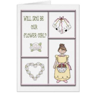 Flower Girl Pink Cards