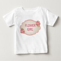 Flower Girl (pink floral) Baby T-Shirt