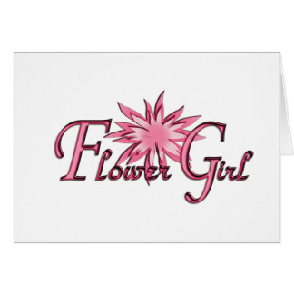 Flower Girl Pink Greeting Cards