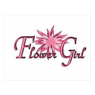 Flower Girl Pink Postcard