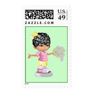 Flower girl postage stamp