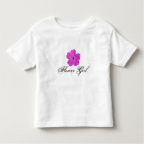 Flower Girl Purple Flower T shirt