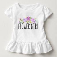 Flower Girl Purple Toddler Tee | Bridesmaid