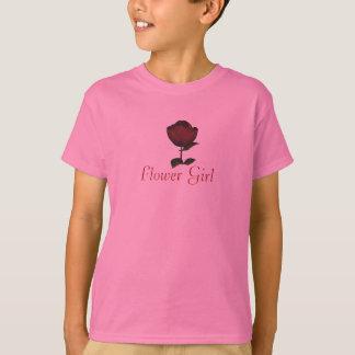 """Flower Girl"" - Red Rose/Wedding Information (a) T-Shirt"