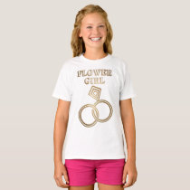 Flower Girl Romantic Gold Rings Wedding T-Shirt