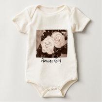 Flower Girl Roses Baby Bodysuit