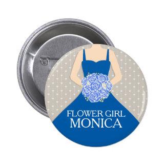 Flower girl royal blue dress named wedding pin