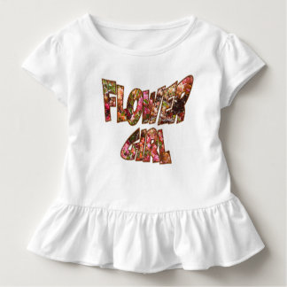 Flower Girl Ruffle Tee Big Lettering