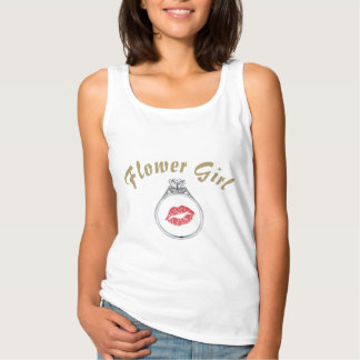 Flower Girl script Wedding Ring Bridal Shower Tank Top