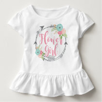 Flower Girl Short Sleeve Toddler Ruffle Shirt