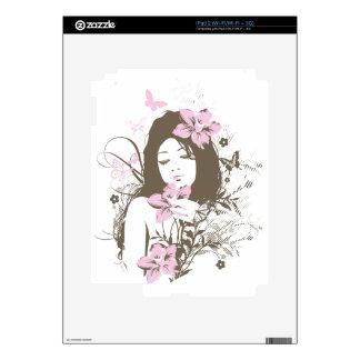 Flower Girl iPad 2 Decals