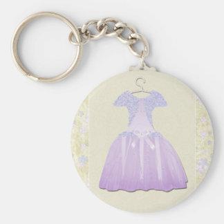 Flower Girl Spring time Basic Round Button Keychain
