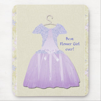 Flower Girl Spring time Mouse Pad