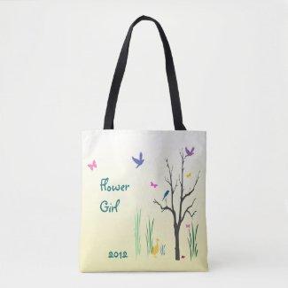 Flower Girl Springtime Wedding Tote Bag