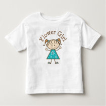 Flower Girl Stick Figure Toddler T-shirt