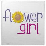 Flower Girl Sunflower Napkin