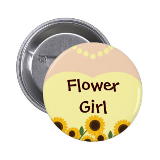 Flower Girl Sunflowers Wedding Pin