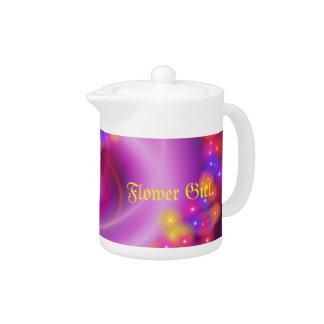Flower Girl Swirly Heart Teapot