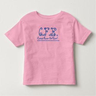 Flower Girl T-Shirt - Black White Pink