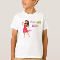 Flower Girl t-shirt Brunette