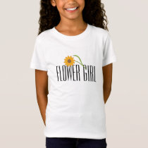 Flower Girl T-Shirt - Orange Daisy