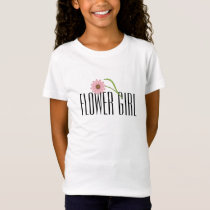 Flower Girl T-Shirt - Pink Flower