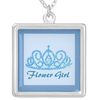 Flower Girl Tiara Personalized Necklace