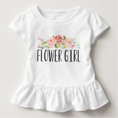 Flower Girl Toddler Tee | Bridesmaid at Zazzle